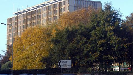 Norfolk County Council headquarters in Norwich. Picture : Steve Adams