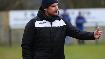 Damian Hilton has resigned as Wroxham manager. Picture: MARK BULLIMORE