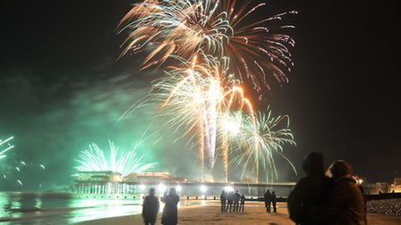 The New Year's Day fireworks at Cromer draw crowds from miles around.