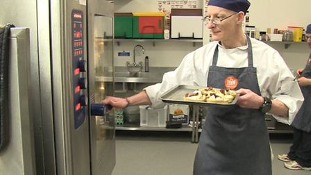 Rob Sampson working in the kitchen. Picture: Mustard TV