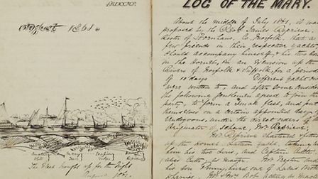 Drawing and account of a boat trip on the Broads, dated 1861. Photo: Norfolk Record Office.