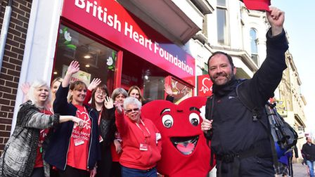 Heart transplant patient Kieran Sandwell is walking around the country to raise funds for the Britis
