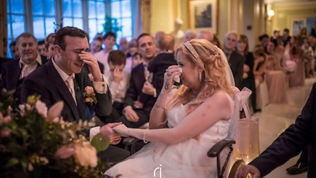 Gareth Innes and Amy Innes during the ceremony. Picture Richard Jarmy Photography.