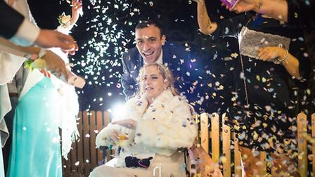 Gareth Innes and Amy Innes celebrate their marriage. Picture Richard Jarmy Photography.