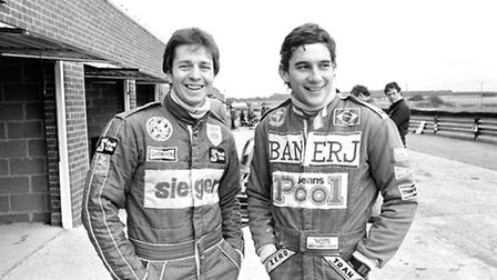 Martin Brundle: Martin Brundle pictured with Ayrton Senna at Snetterton Race Circuit in 1983, when
