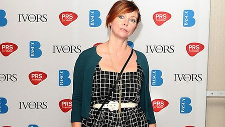 Cathy Dennis: Cathy Dennis at the 2012 Ivor Novello awards held at the Grosvenor House Hotel, London