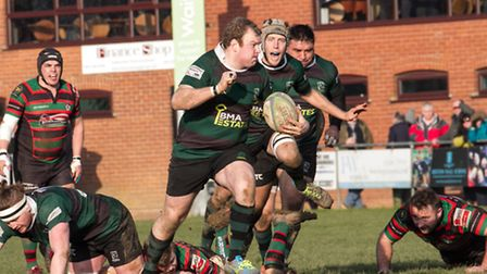 Tom Browes breaks forward during North Walsham's first home meeting against Fullerians. Picture: HY