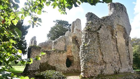 Weeting Castle Picture of the week, autumn, calendar.