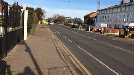 A diversion sign is put in place on Southtown Road. Picture: Anne Edwards