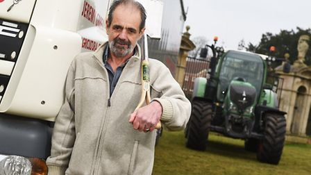 Sugar beet haulier Billy Cornell is retiring after 45 years with the Euston Estate. Pictured with an