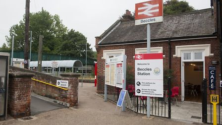 Beccles train station cafe. PHOTO: Nick Butcher