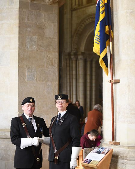 The Wymondham women's section of the Royal British Legion, laid up their Branch Standard during morn