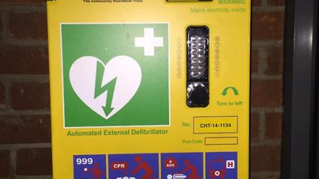 A new defibrillator has been installed atThetford Library, on Raymond Street. Picture: Thetford Comm