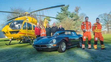 East Anglian Air Ambulance staff with the Nembo Spider.