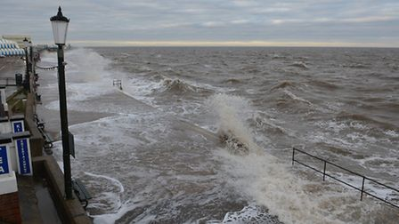A storm lashes the Prom in Hunstanton. Picture: Chris Bishop