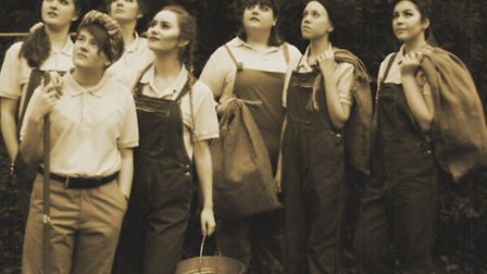 The cast, made up of performing arts students from West Suffolk College, of Lilies on the Land. Pic