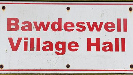 Bawdeswell Village Hall sign. Picture: Matthew Usher.