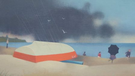 Approaching Storm No 2, by artist and former Norfolk County Council chairman Peter Baldwin, whose wo