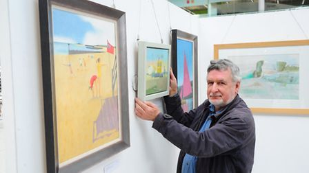 Sheringham-based artist Peter Baldwin, whose work has been selected for the annual Royal Society of