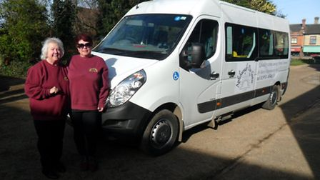 Attleborough Day Centre is celebrating the arrival of its new minibus. Pictured, left, is minibus es