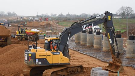 Work on the NDR north of Norwich went ahead thanks to LEP funding. Picture: DENISE BRADLEY