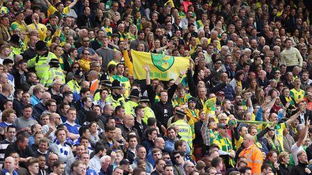 Norwich City and Ipswich Town fans at Carrow Road in 2015. Picture Paul Chesterton/Focus Images Ltd