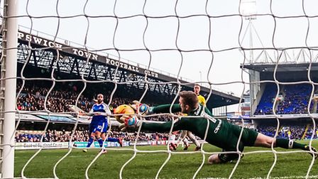 Former Norwich keeper Robert Green made a superb save from David McGoldrick in the second half of To