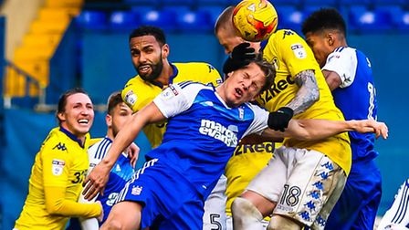 Christophe Berra was dominant in the air against Leeds. Picture: Steve Waller