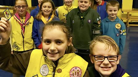 Students at Howard Junior School in King's Lynn celebrate World Thinking Day. Picture: Howard Junior