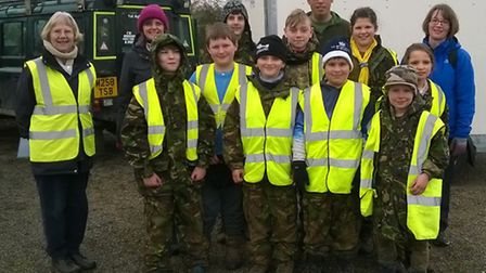 The 1st Aylsham Scouts dug deep at the town's allotments. Picture: Sheila Merriman
