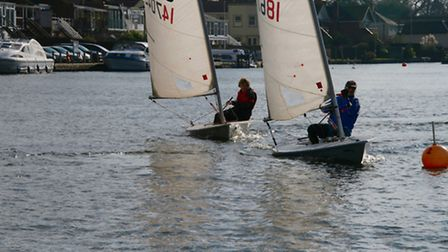 Action from Snowflake Sailing Club. Picture: IAN SYMONDS