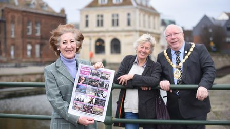 The launch of the King's Lynn Festival. Pictured are (from left) Alison Croose, Issy Smith and Borou