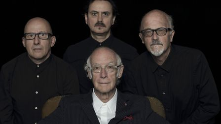 Roger McGough (front, centre) who will be appearing at King's Lynn festivalPicture: Nick Wright