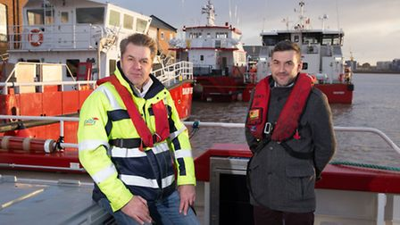 Steve Bartram, operations manager for Dalby Offshore and Tim Smith from Saline Marine - Picture: TMS