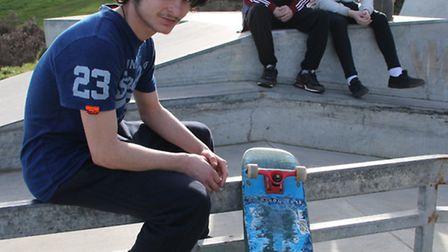 Nineteen-year-old boarder Harry Mikellides made a plea to keep the skatepark in Cromer open. Picture