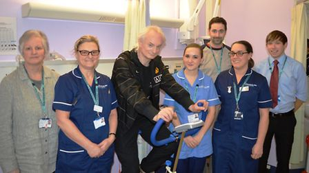 L-R: The N&N's clinical trials team with patient Nigel Slaymaker (third from left). The team is lead