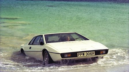 The Lotus Esprit S1 being driven out of the sea by James Bond in The Spy Who Loved Me. Picture: Grou