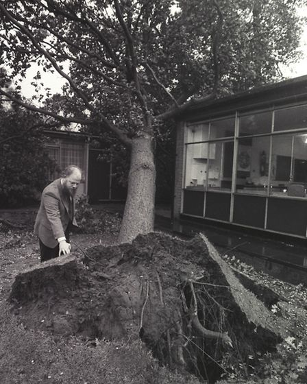 Storm damage in Norwich after the October 1987 storm. Photo from Archant Library.