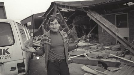 David Davenport, whose Keelen Close business in Norwich was wrecked by the 1987 gales. Photo from Ar