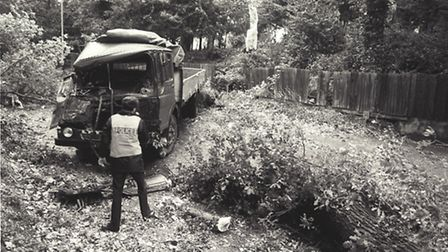 The storm in October 1987 left Harvey Lane in Norwich damaged. Photo from Archant Library.
