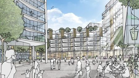 What the new homes in Anglia Square could look like. Pic: Lawrie Cornish.