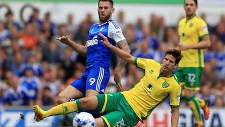 Timm Klose will be glad he doesn't have to deal with Daryl Murphy after the striker's move to Newcas