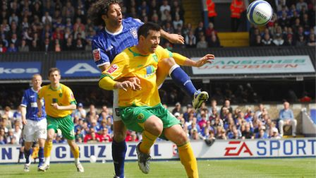 Alan Lee, in action for the Canaries against Ipswich. Photo: Nick Butcher.