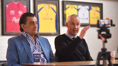 King's Lynn Town press conference to unveil Ian Culverhouse as the new manager of the club. Also pic
