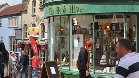 The Book Hive, an independent bookshop on London Street, Norwich. Photo: Steve Adams