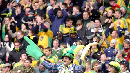 NCFC fans look in high spirits at a 2004 East Anglian derby. Photo by Steve Adams.