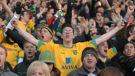 The crowd doesn't look too happy at the NCFC v Ipswich game in December 2008. Photo: Sonya Duncan.