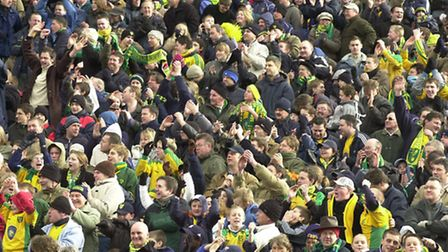Can you see yourself in the crowd at an East Anglian derby in 2004? Photo by Steven Key.