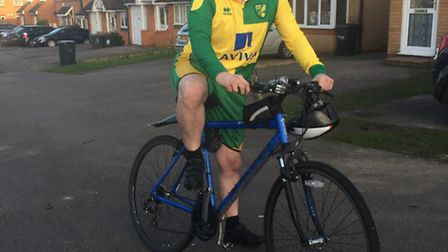 Lifelong Canaries fan Andrew Coleman is hoping to push himself further and travel the distance to he