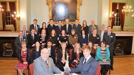 Sponsors of the students' Mock Trials journey with the team. Picture: Mark Fitzpatrick/Springwood Hi
